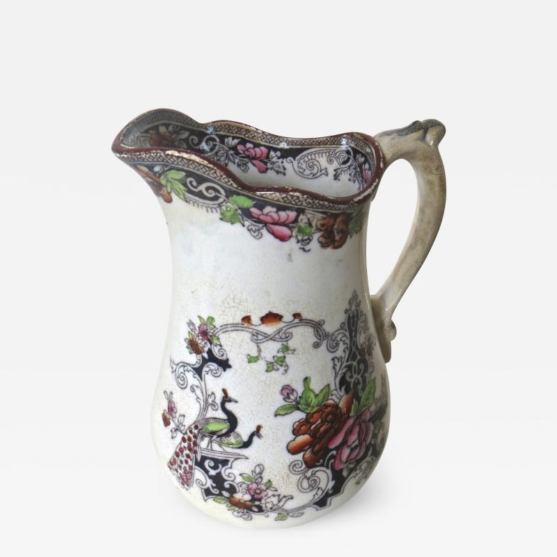 W J Butterfield Mid Size Ironstone Pitcher by W J Butterfield England Circa 1855