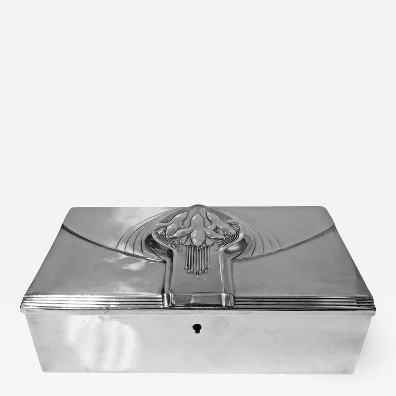 WMF W rttembergische Metallwarenfabrik W M F Jugendstil Nouveau Secessionist Jewellery or Cigar Box WMF Germany C 1906