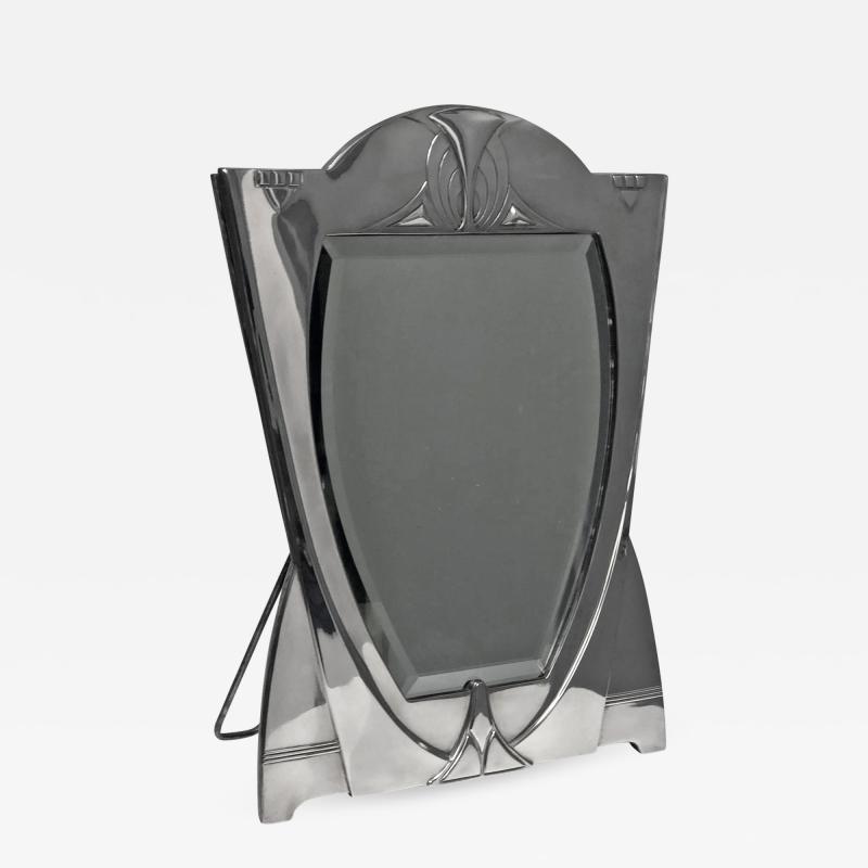 WMF WMF Art Nouveau Jugendstil Secessionist Large Silver Plate Mirror Germany