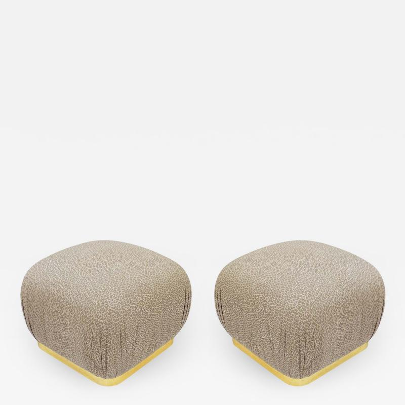 Weiman Pair of Hollywood Regency Poufs or Ottomans after Karl Springer by Weiman