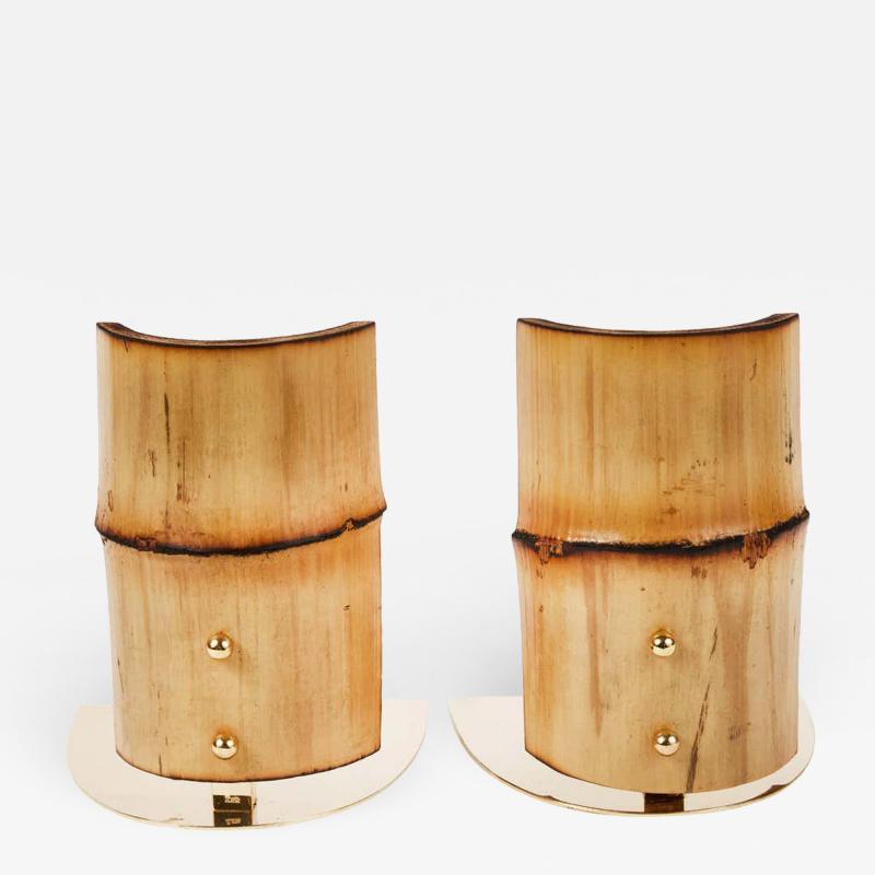 Werkst tte Carl Aub ck Carl Aubock Model 1937 Bamboo Bookends