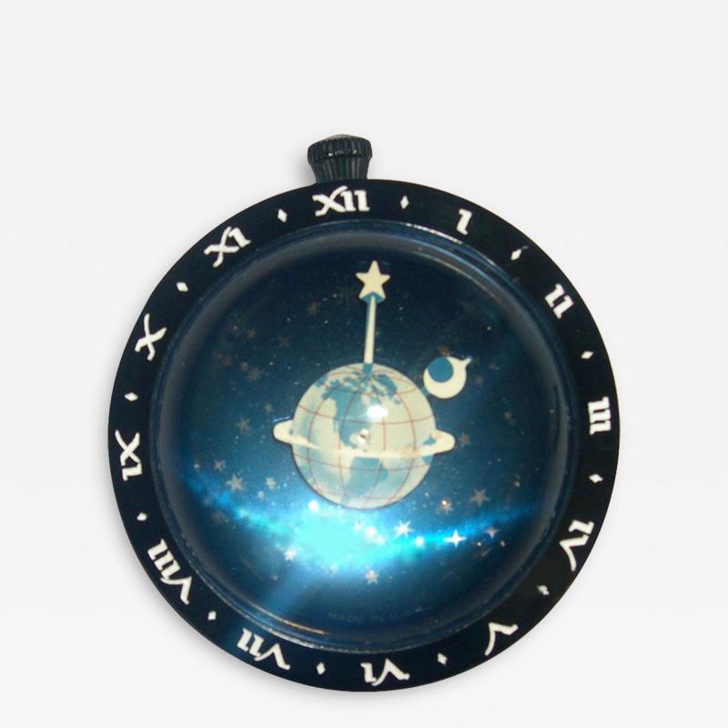 Westclocx Astronomical Art Deco Paperweight Clock by Westclock