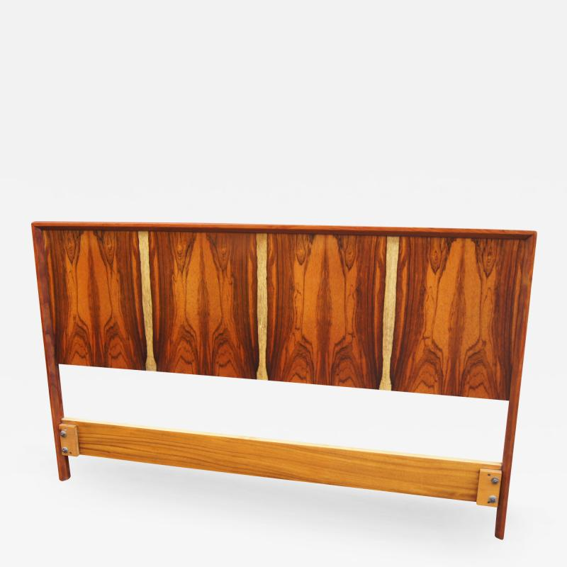 Westnofa of Norway Bookmatched Rosewood and Walnut Queen Headboard by Westnofa