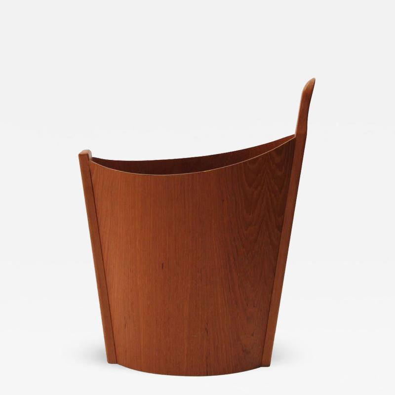 Westnofa of Norway Teak Waste Basket