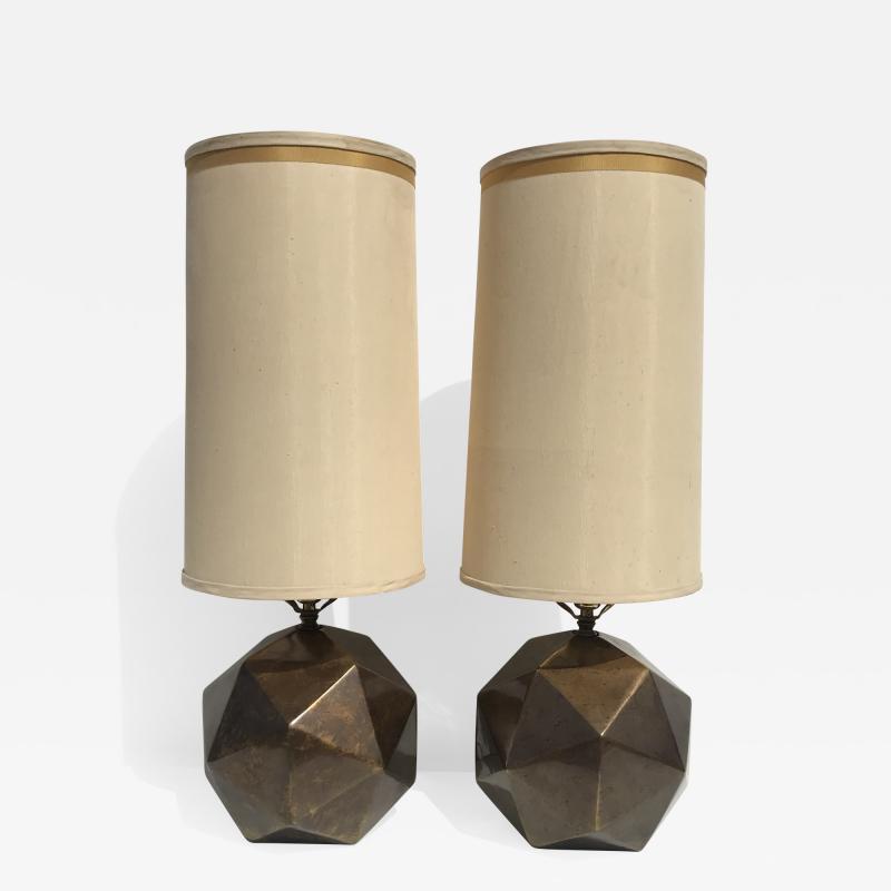 Westwood Industries Pair of Westwood Geometric Sphere Lamps