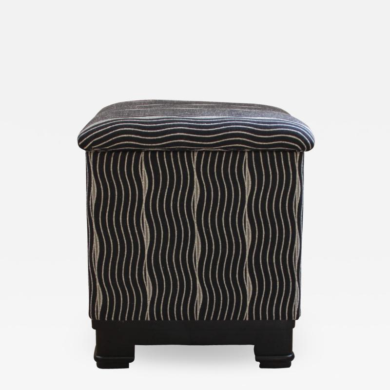 Wiener Werkst tte Art Deco Stool with Fold Up Seat France circa 1930
