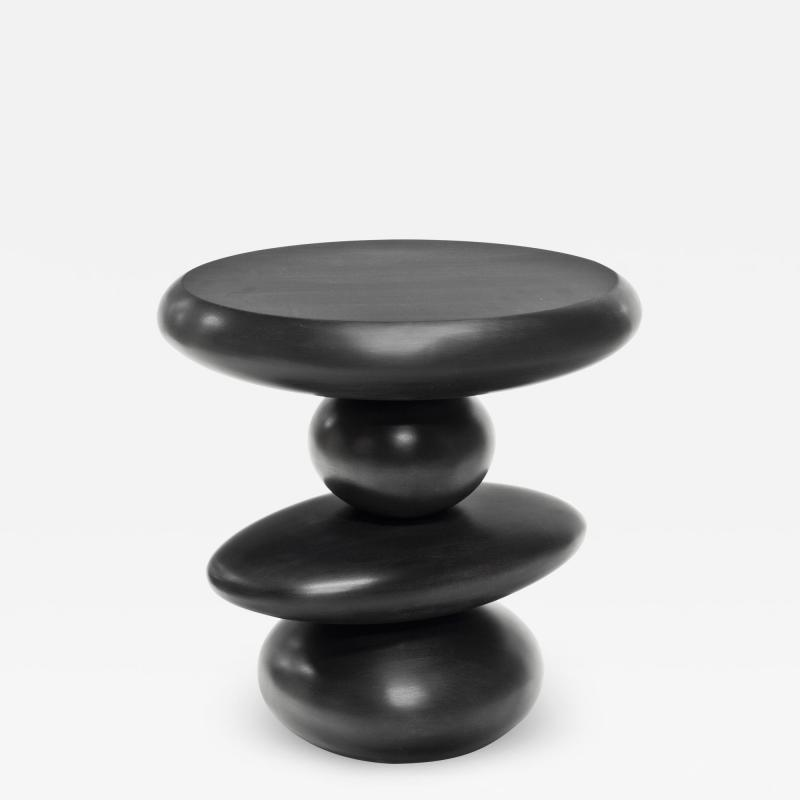 Wooda Cairn End Table in Ebonized Maple designed for Wooda by Alvaro Uribe