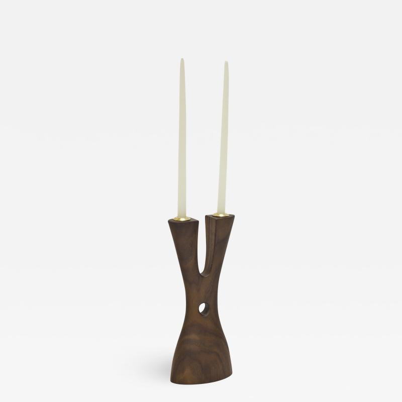 Wooda Mastodon Candle Holder in Walnut designed for Wooda by Noah Norton