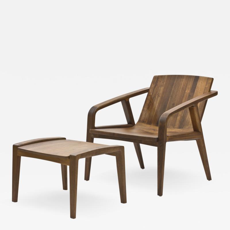 Wooda Pilot Lounge Chair and Ottoman designed for Wooda by Scott Mason