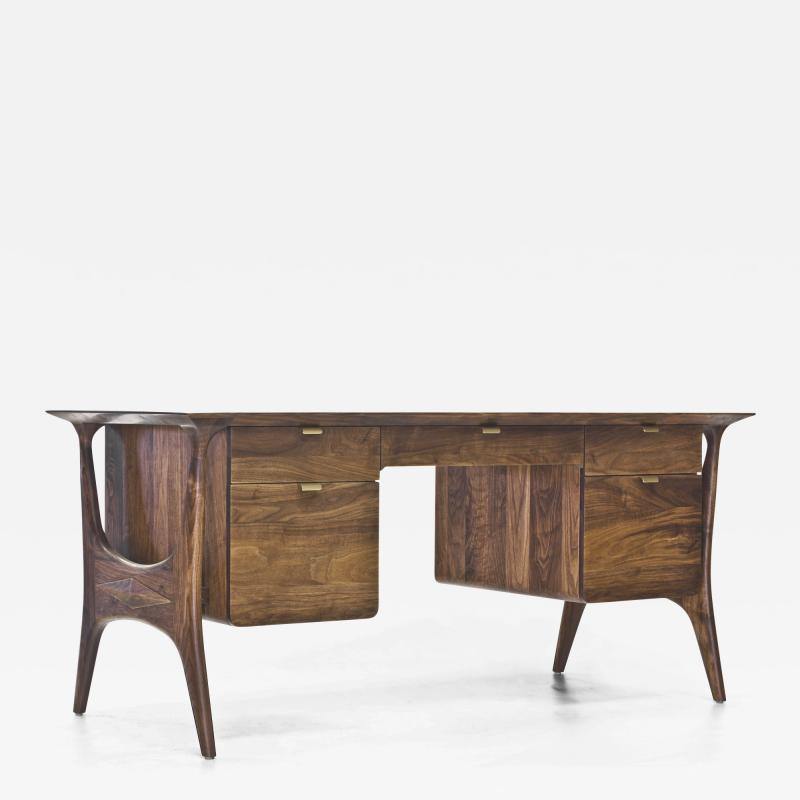 Wooda Str cka Desk in Walnut designed for Wooda by Mackenzie Smith Geggie