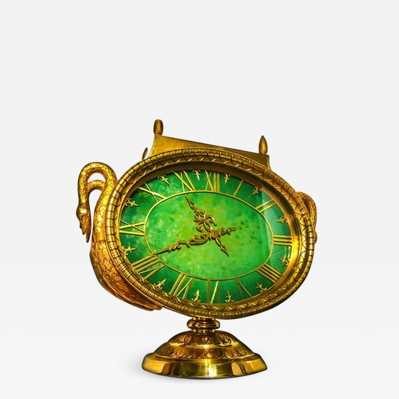 Ye Olde Timekeepers Inc 1963 Patek Philippe Jade Swan Clock