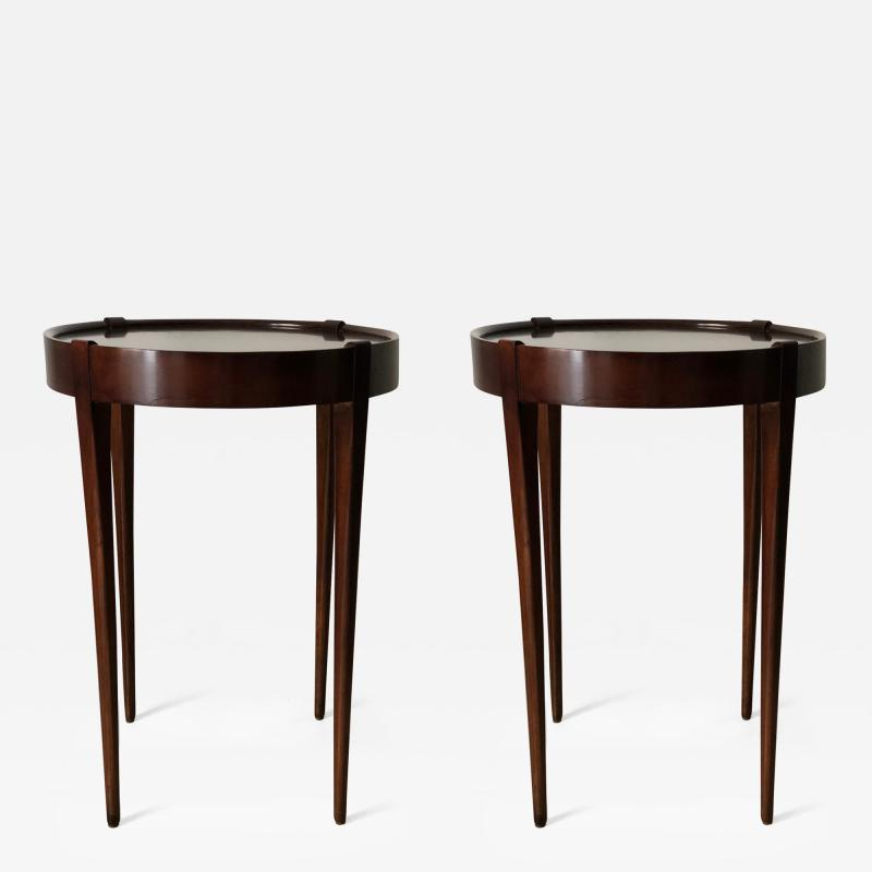 Zangerle Peterson Zangerle Peterson Chicago Pair of Round Tables Signed
