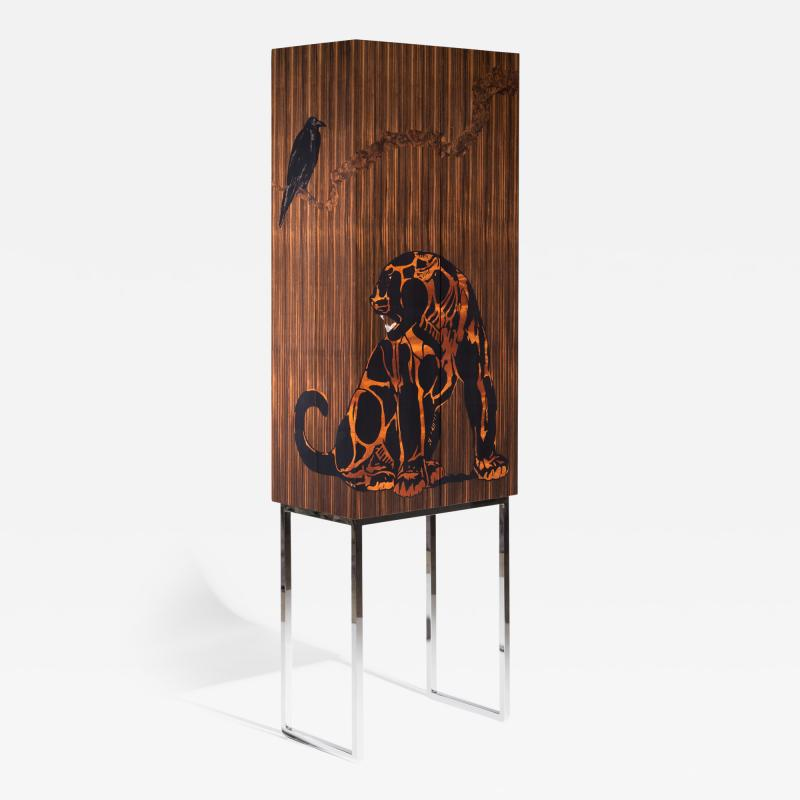 Zelouf Bell Furniture Makers JAGUAR AND THE CROW COCKTAIL CABINET