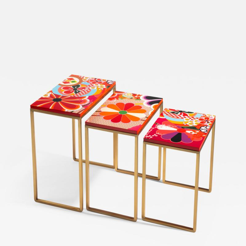 Zelouf Bell Furniture Makers KIKU NESTING TABLES