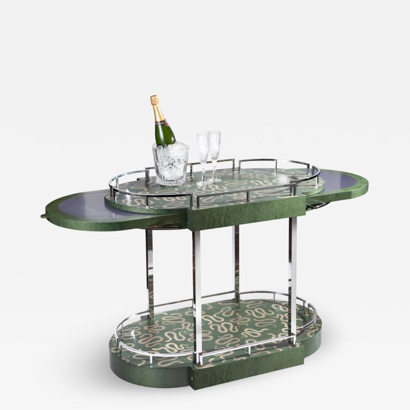 Zelouf Bell Furniture Makers Serpents Bar Cart