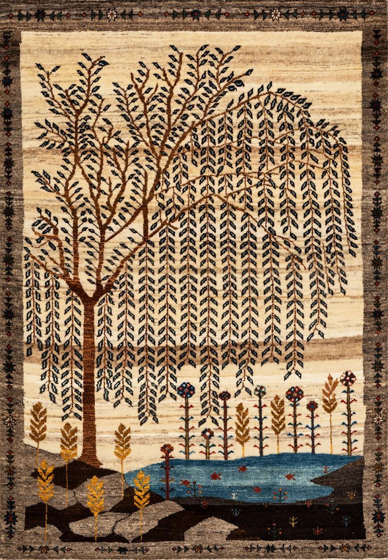 Zollanvari Studio Bid e Majnoon Tree of LIfe Collection Super Fine Gabbeh