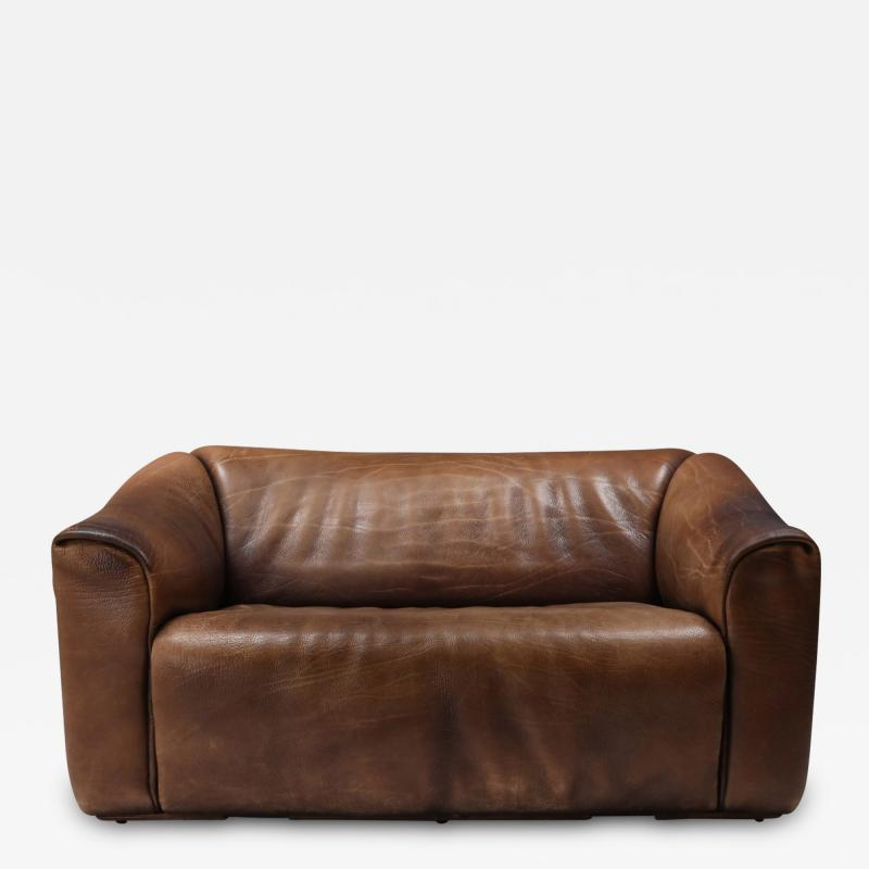 de Sede De Sede DS 47 Brown Leather Sofa 1970s