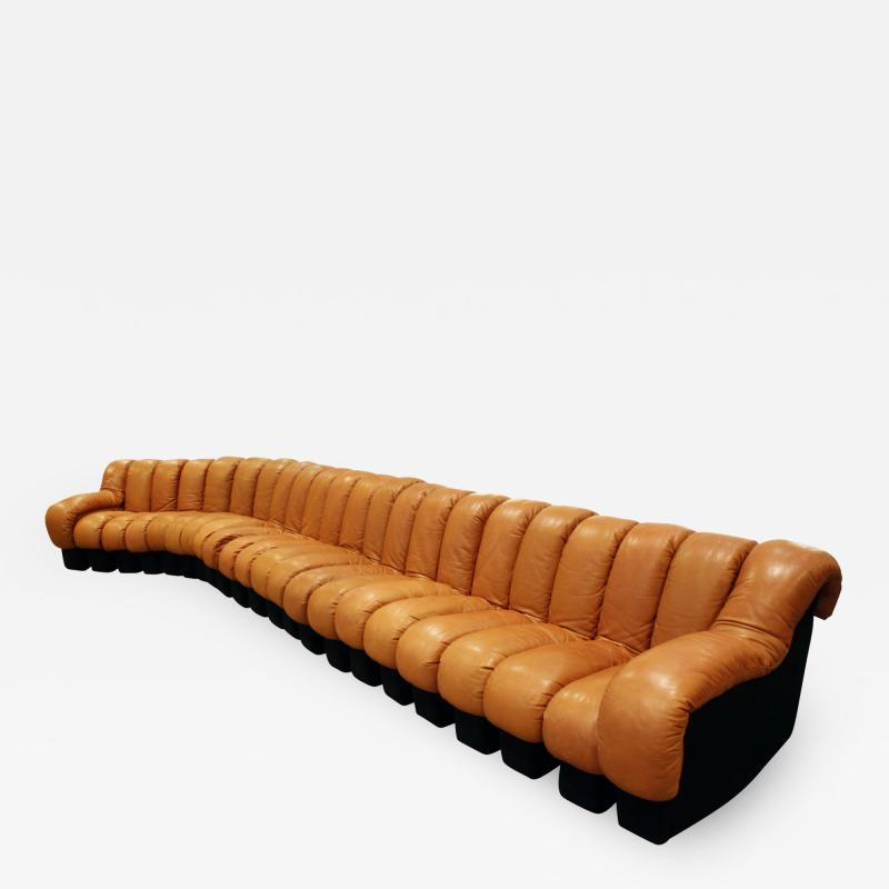 de Sede Iconic De Sede Non Stop Sofa in Leather 1970s