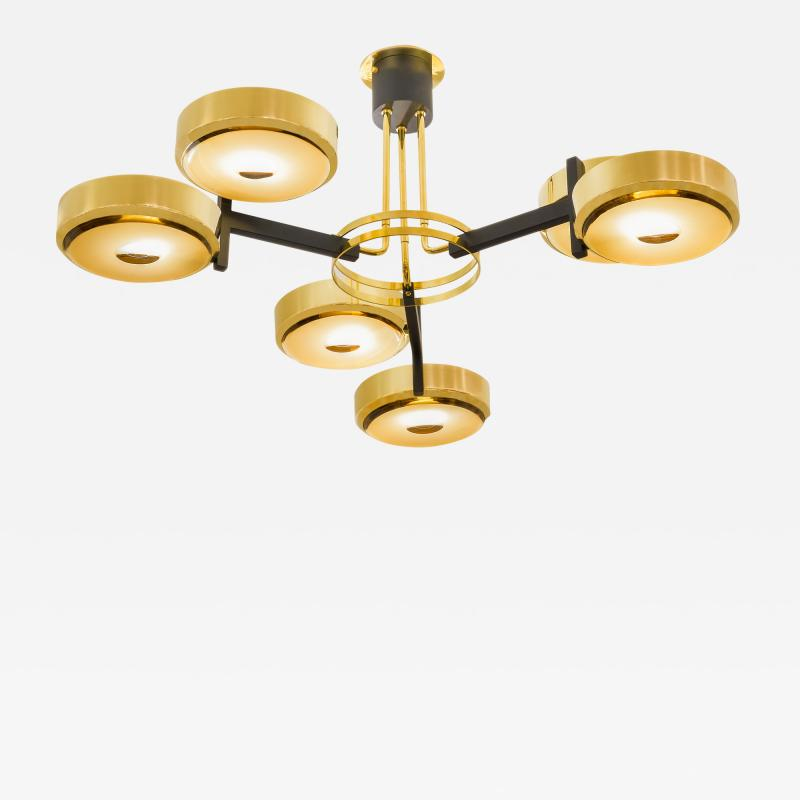 form A Eclissi Ceiling Light Carved Glass Version