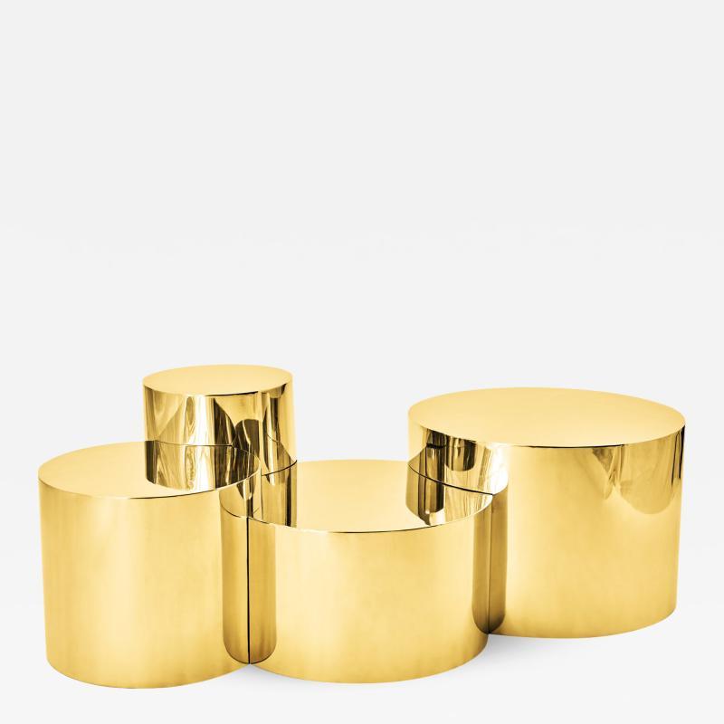 form A Geometria Cerchi 4 Coffee Table Brass Version
