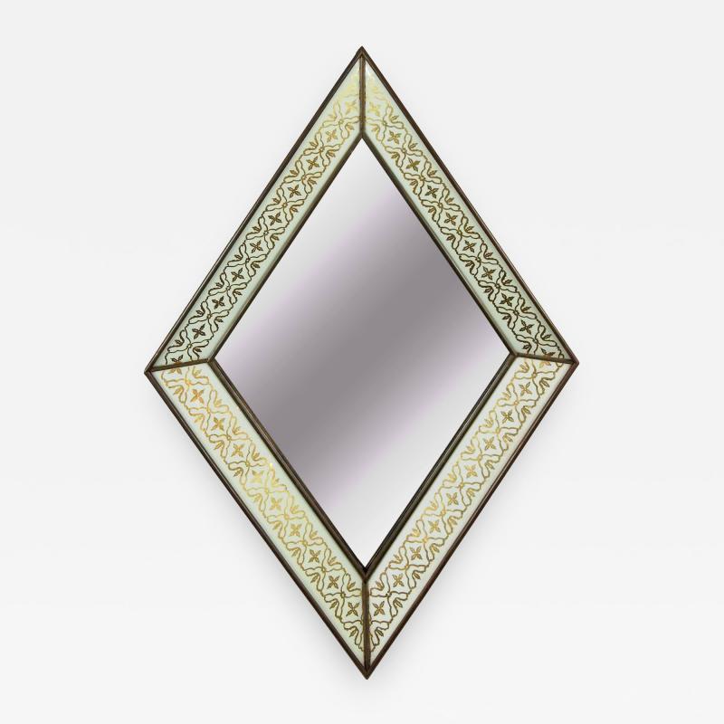 glomis French Art Deco Diamond Form Mirror