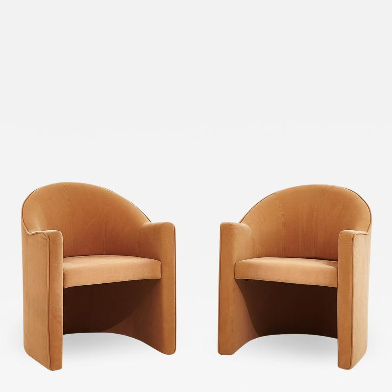 i4 Mariani Pace Barrel Back Lounge Chairs by Mariani Italy 1980