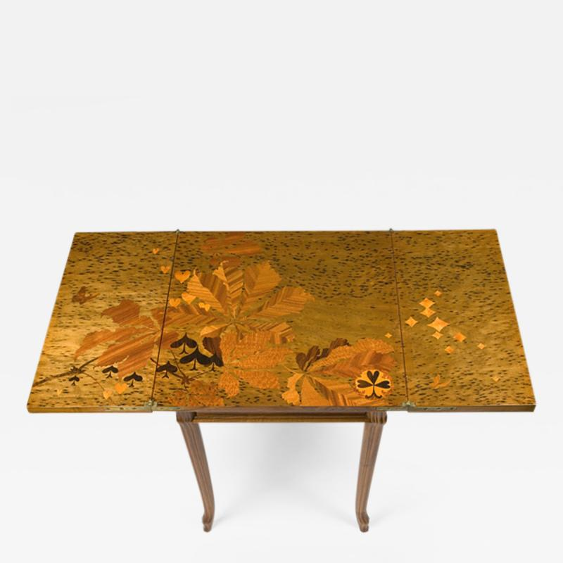 mile Gall French Art Nouveau Games Table by Gall