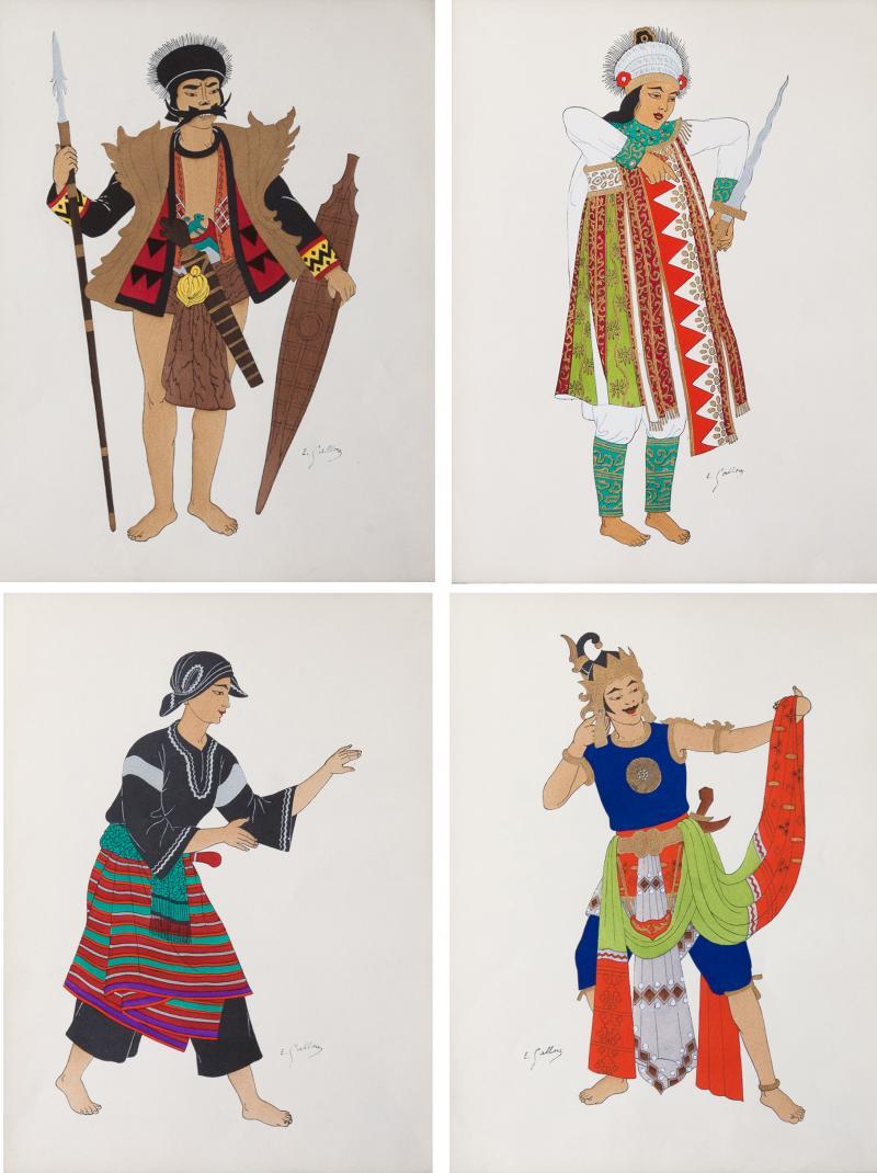 mile Gallois COSTUMES JAPONAIS ET INDONESIENS BY MILE GALLOIS Circa 1930