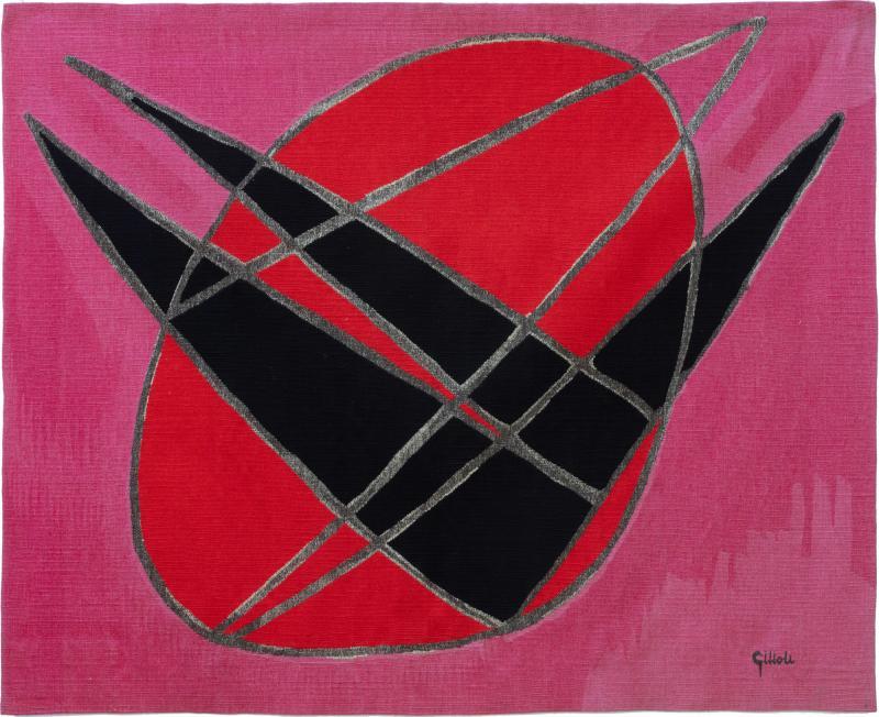 mile Gilioli The fall of Icarus Aubusson tapestry signed Emile Gilioli