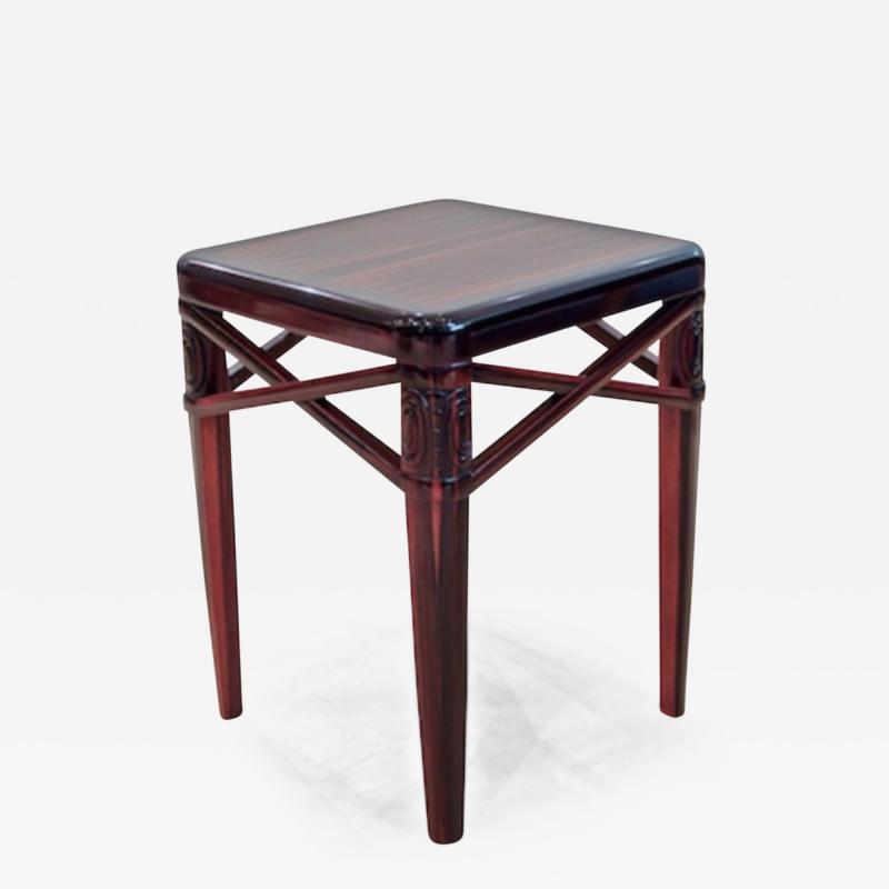 mile Jacques Ruhlmann Ruhlmann Small Side Table in Macassar Ebony