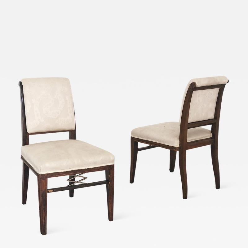 mile Jacques Ruhlmann pair of chairs by JACQUES MILE RUHLMANN for ATELIER J E RUHLMANN