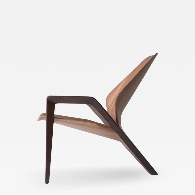 ndio da Costa Brazilian Design Contemporary Ava Armchair in Jequitib Wood