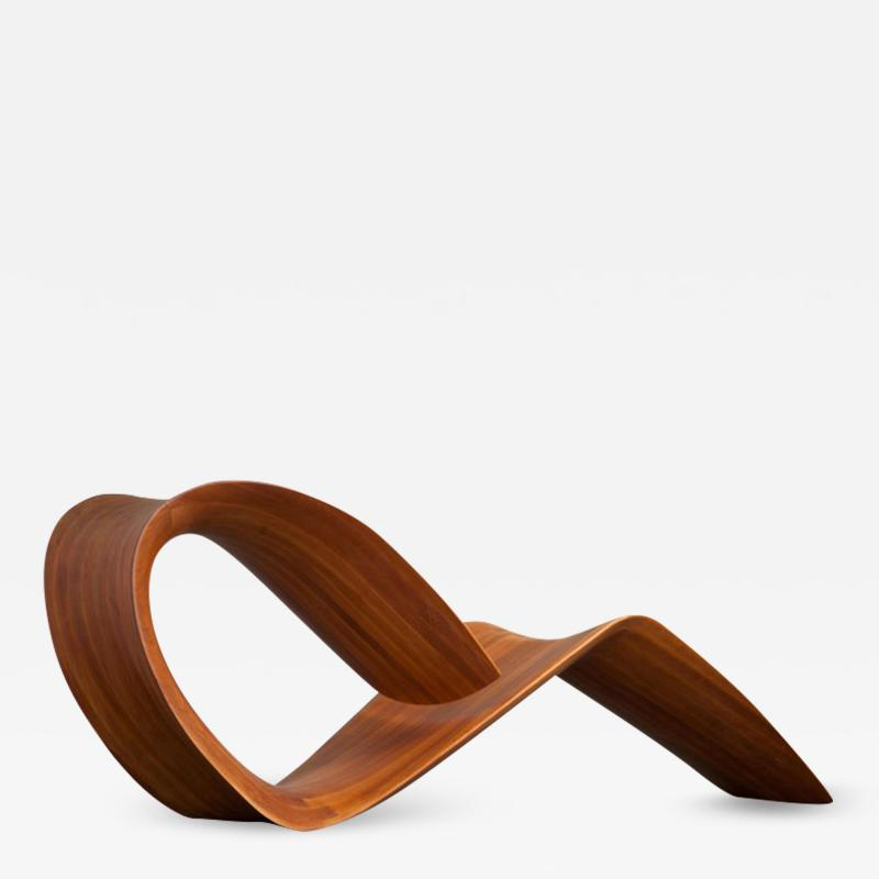 ndio da Costa Contemporary Jequitib Wood Chaise Longue by Brazilian Designer