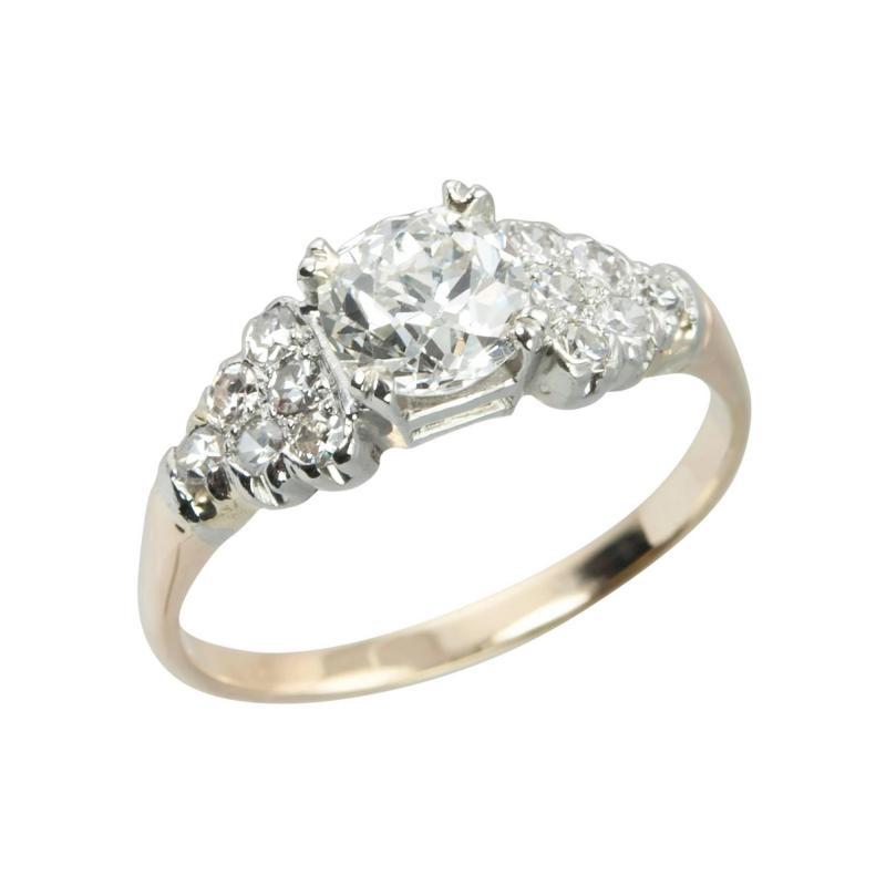 0 91 Carat Cushion Cut Diamond 14k Engagement Ring