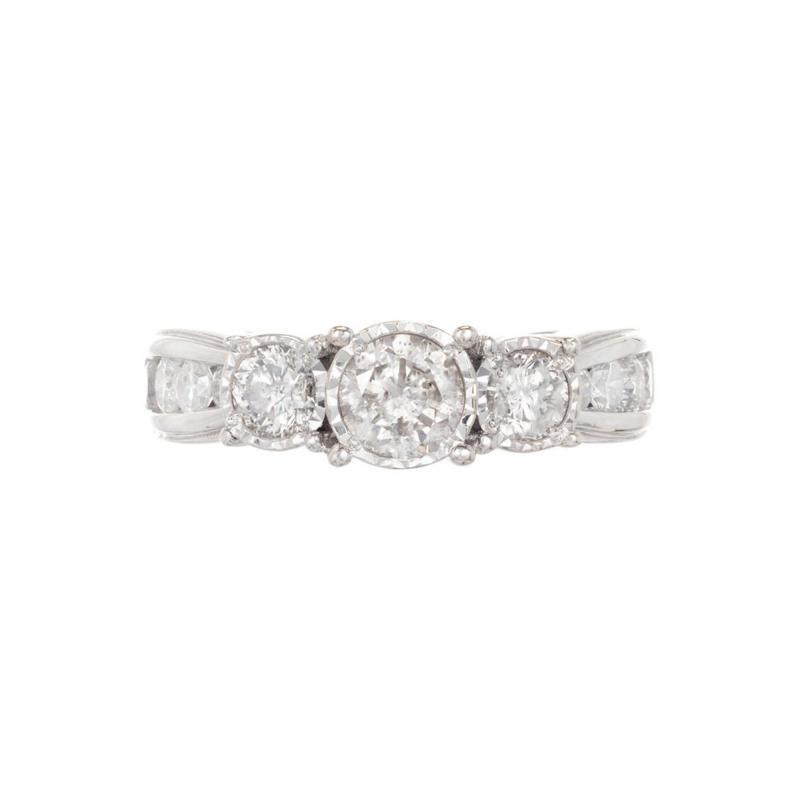 1 64 Carat Diamond Three Stone White Gold Engagement Ring