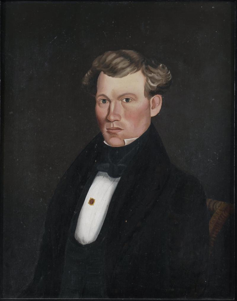 Milton W Hopkins Portrait of a Young Man c 1835