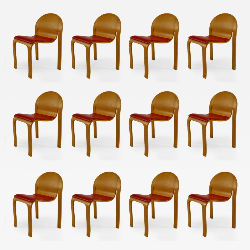 12 American Mid Century Modern 1960s Plywood Side Chairs