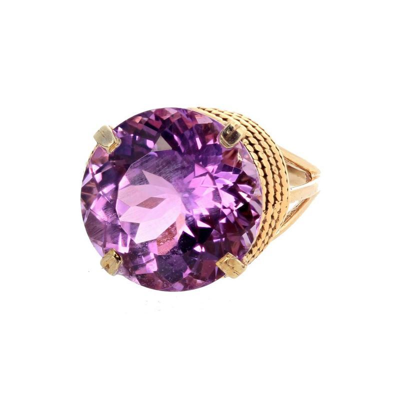 14 51 Carat Natural Kunzite Gold Ring