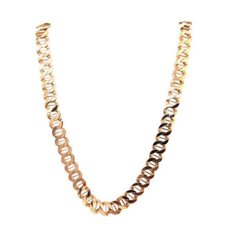 14 Karat Yellow Gold Fancy Link Necklace