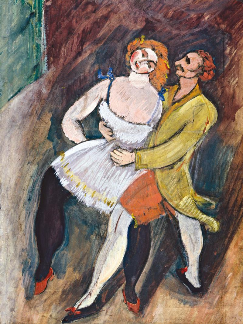 Max Weber Two Dancers Russian Ballet