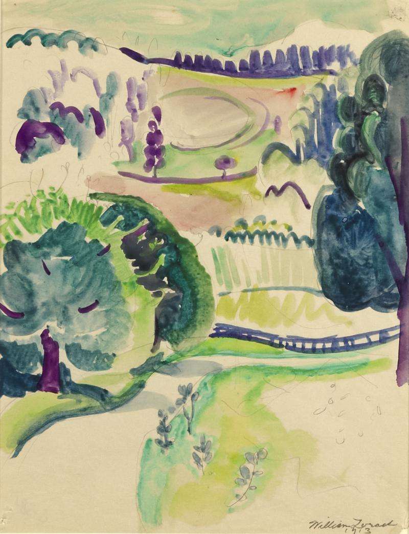 William Zorach Landscape c 1913