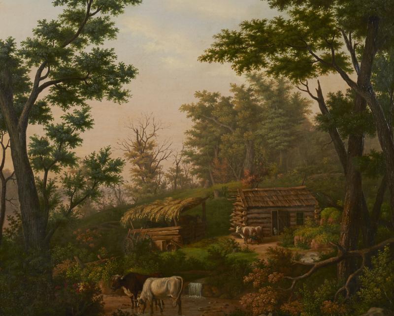 Edward Sachse Missouri Rustic Scene by Edward Sachse 1804 1873 circa 1865