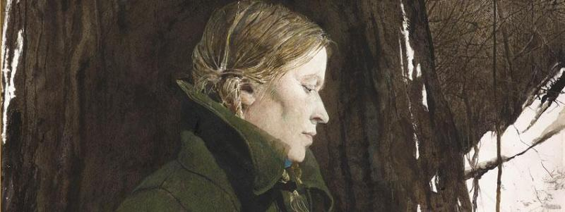 Andrew Wyeth Helga On Paper By Catherine Quillman Incollect