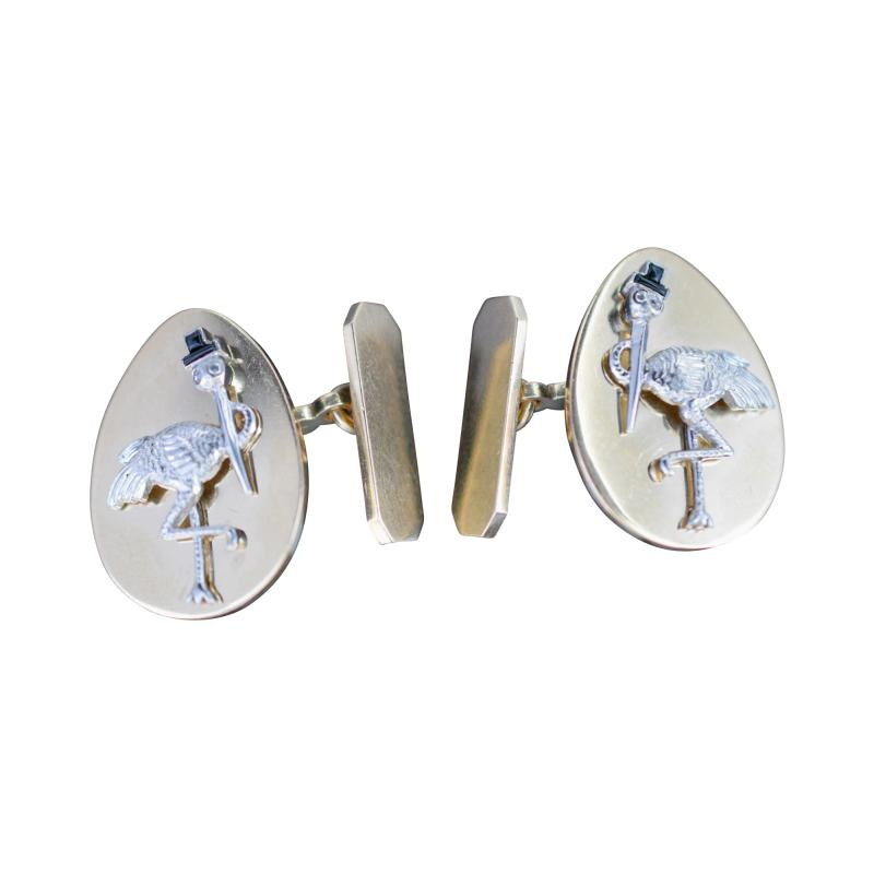 14K Gold Cufflinks New York City Stork Club