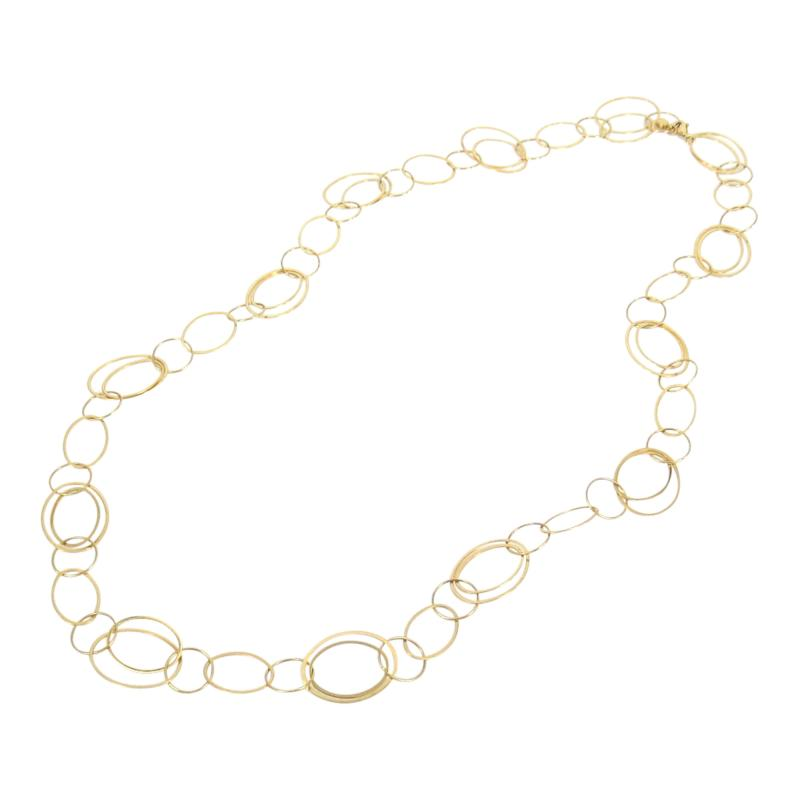 14KT YELLOW GOLD 30 INCH CIRCLE LINK NECKLACE