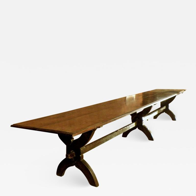 16ft long 17th century French Trestle Table