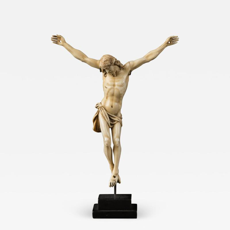 17th C Baroque Flemish School Religious Very Finely Carved Crucified Christ