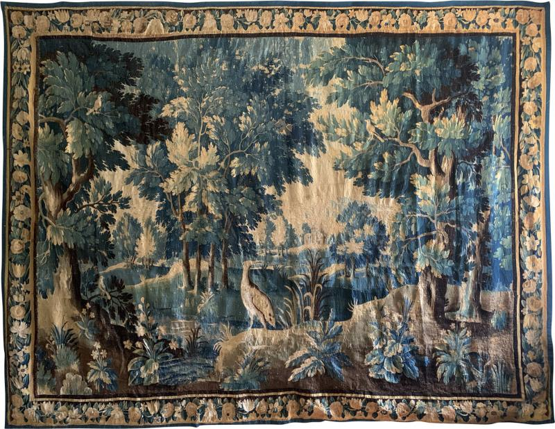 17th Century Flemish Verdure Tapestry