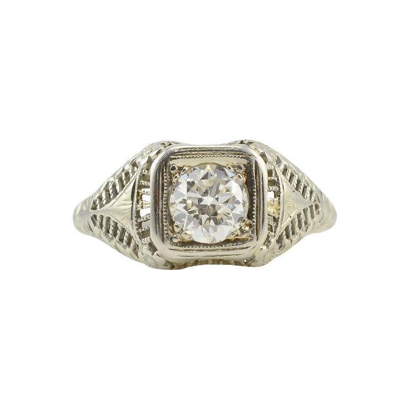 18 Karat White Gold 0 80 Carat Diamond Ring Size 7 75