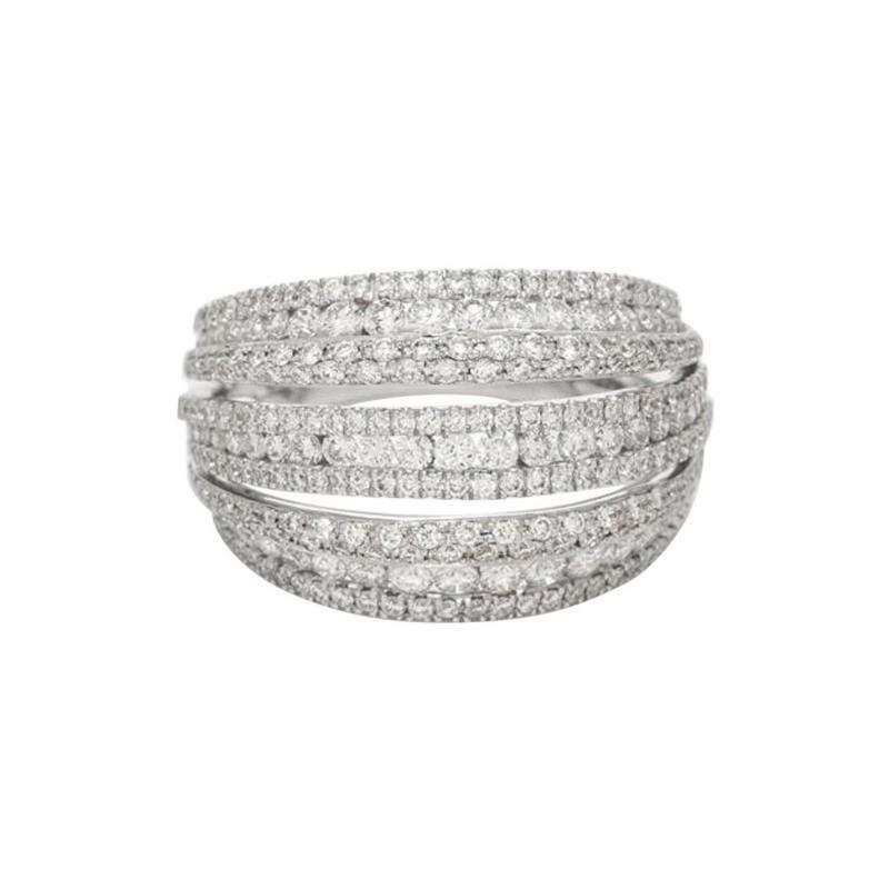 18 Karat White Gold and Brilliant Diamond Ring 1 95 Carat